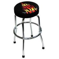 Shop Stool Flames